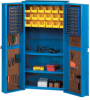 EUROKRAFT 2-Shelf Combination Cabinet with Pegboard Storage -- 8500727