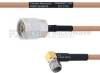 N Male to RA SMA Male MIL-DTL-17 Cable M17/128-RG400 Coax in 60 Inch -- FMHR0071-60 -Image