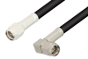 SMA Male to SMA Male Right Angle Cable 24 Inch Length Using RG58 Coax, RoHS -- PE3319LF-24 -Image