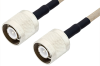 SC Male to SC Male Cable 24 Inch Length Using RG141 Coax , LF Solder -- PE34439LF-24 -Image