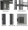 24U Server Cabinet M6 Mesh-Doors Black -- EC24U2442SMMSMNK -- View Larger Image