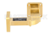 WR-42 Instrumentation Grade Waveguide H-Bend with UG-595/U Flange Operating from 18 GHz to 26.5 GHz -- PE-W42B002A -Image