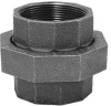 Union,3/8 In,NPT,Black Malleable Iron -- 4WJT2