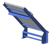 Model HG1418 Hinged Gate Gravity Roller Conveyors -- HG1418