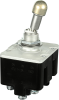 TL Series Toggle Switch, 4 pole, 3 position, Screw terminal, Locking Lever -- 4TL11-12A -Image