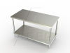 TS Series, Stainless Steel NSF Listed Flat Top Worktable -- 4TS-3648