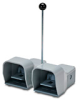 On-Off Foot Switch: double plastic pedal with gray metal guards -- APD1123-V0-M