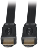 High Speed HDMI Flat Cable, Ultra HD 4K x 2K, Digital Video with Audio (M/M), Black, 6-ft. -- P568-006-FL -- View Larger Image