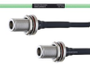 Temperature Conditioned Low Loss N Female Bulkhead to N Female Bulkhead Cable LL160 Coax in 18 Inch -- FMHR0222-18 -Image