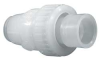 Ball Check Valve,1/2 In,Socket,Poly -- 3PFV9