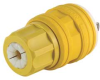 Locking Plug,L24-20P,347V,1Ph,YLW -- 4UFD1 - Image