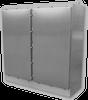 304 Stainless Steel NEMA 4X Two Door Free Standing Enclosure -- F5-606036N4X-SS