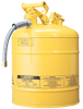 5 Gallon Type II Steel Flammable Liquid Safety Can -- CAN10821-YELLOW