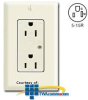 Leviton 125V Decora Plus Industrial Grade Surge Protector -- 5280-W -- View Larger Image