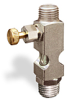 """(Formerly B1631-8X00), Straight Small Sight Feed Valve, 1/4"""" Male NPT Inlet, 1/4"""" Male NPT Outlet, Handwheel -- B1628-444B1HW -- View Larger Image"""