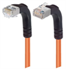 Shielded Category 6 Right Angle Patch Cable, Right Angle Down/Right Angle Up, Orange, 30.0 ft -- TRD695SRA4OR-30 -- View Larger Image