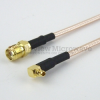 SMA Female to RA MMCX Plug Cable RG-316 Coax in 12 Inch -- FMC1319315-12 -Image