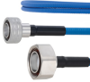 Plenum Low PIM Snap-On 4.3-10 Male to 7/16 DIN Male Cable SPP-250-LLPL Coax in 12 Inch Using Times Microwave Parts and RoHS -- FMCA1854-12 -Image