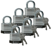 Brady Black Steel 5-pin Keyed & Safety Padlock 51284 - 1 9/16 in Width - 1 1/3 in Height - 17/64 in Shackle Diameter - 2 Key(s) Included - 754476-51284 -- 754476-51284