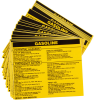 Brady B-928 Black on Yellow Rectangle Vinyl Hazardous Material Label - 4 1/2 in Width - 3 2/4 in Height - Printed Text = GASOLINE - 93544 -- 754476-93544