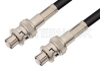 SHV Plug to SHV Plug Cable 60 Inch Length Using 93 Ohm RG62 Coax -- PE3857LF-60 -Image