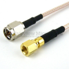 SMA Male to SMC Plug Cable RG-316 Coax in 6 Inch and RoHS -- FMC0218315LF-06 -Image
