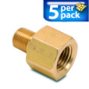Connector Air Fitting: female, brass, for 1/8n NPT to 1/4in NPT, 5/pk -- BFMFR-14N-18N -- View Larger Image