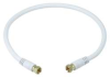 Video Cable,F Type,Coaxial,RG6,1.5ft,Wht -- 14C399
