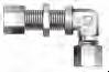 DIN Bite Type Tube Fitting - DBUE Bulkhead Union Elbow - Image