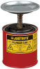 2 Pint Justrite Steel Plunger Can -- CAN10143