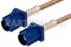 Blue FAKRA Plug to FAKRA Plug Cable 48 Inch Length Using RG316 Coax -- PE38755C-48 -- View Larger Image
