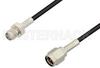 SMA Male to SMA Female Cable 48 Inch Length Using PE-C100-LSZH Coax -- PE37995-48 -Image