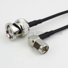 RA SMA Male to BNC Male Cable RG-174 Coax in 48 Inch -- FMC0408174-48 -Image