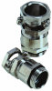 Nickel-Plated Brass Cable Clamp with Single Saddle Clamp and Additional Sealing, PG & Metric Thread -- SKINDICHT® SHZ/SHZ-M