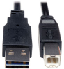 Universal Reversible USB 2.0 Hi-Speed Cable (Reversible A to B M/M) 10-ft. -- UR022-010 - Image