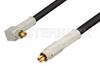 MC-Card Plug to MC-Card Plug Right Angle Cable 12 Inch Length Using RG174 Coax -- PE36120-12 -Image