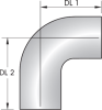 24HL – 90º Tube Bend Heavy