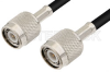 TNC Male to TNC Male Cable 12 Inch Length Using 75 Ohm RG59 Coax, RoHS -- PE3402LF-12 -Image
