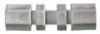 Bulkhead compression union, polypropylene, 1/2