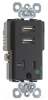 Combination Switch/Receptacle -- TR-8301USBBK -- View Larger Image