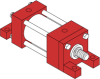 Series H - Model H71 NFPA Style MT1 -- Rod End Trunnion Mount - Image