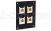 Universal Sub-Panel, 4 Feed-Thru Couplers, RJ12 (6x6) Straight -- USP4MB