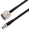 N Male to SMA Female Cable Assembly using RG58 Coax, 5 FT -- LCCA30667-FT5 -Image