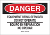 Lockout Warning Sign (English/Spanish) -- 50270