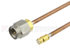 SMA Male to SMP Female Cable RG-405 Coax in 12 Inch -- FMC0220988-12 -Image