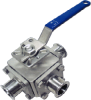 3-Way Sanitary Ball Valve -- MS-3WTC Series - Image