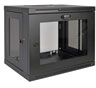 SmartRack 9U Wall-Mount Standard-Depth Rack Enclosure Cabinet, Plexiglass Front Door Insert -- SRW9UG