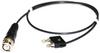 Stacking Mini Double Banana Plug to BNC Male, RG 174/U -- 4028M -Image