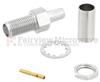 SMA Female (Jack) Bulkhead Connector For RG58, RG141, RG303, 0.195 inch, LMR-195, LMR-195-FR Cable, Crimp/Solder