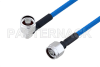 Plenum N Male Right Angle to N Male Low PIM Cable 36 Inch Length Using SPP-250-LLPL Coax , LF Solder -- PE3C4139-36 -Image